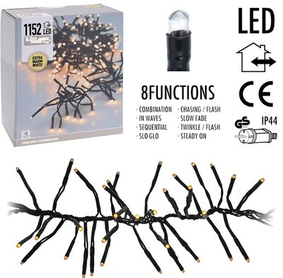 Clusterverlichting 1152 LED - 8.5m - extra warm wit *6TH*