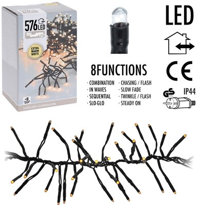 Clusterverlichting - 576 LED - 4m - extra warm wit *6TH*
