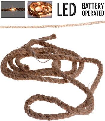6 stuks Jute touw met ledverlichting - 1.50 meter *6TH*