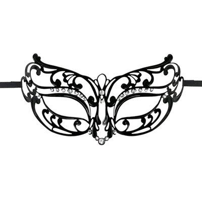 Easytoys Opengewerkt Masker Metaal - Zwart *6TH*