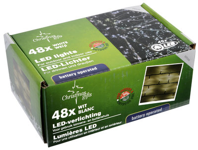 Christmas gifts LED Kerstverlichting wit (48 LED's) *6TH*