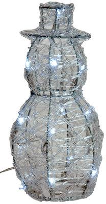 Acryl sneeuwman 25cm met 16 LED's *6TH*