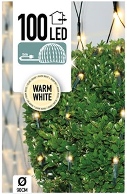 Buxus Netverlichting 100 LED's warm wit *6TH*