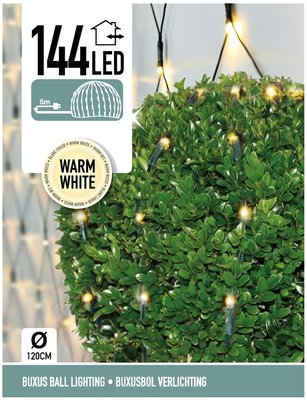 Buxus Netverlichting 144 LED's warm wit *6TH*